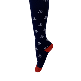 Compression Socks Mens-Blue Anchor